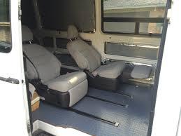 reclining passenger seats in a sprinter sprinter cer
