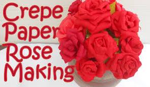 DIY How To Make Crepe Paper Rose Flower