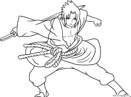 Coloring Pages Anime Sasuke Of Naruto Shippudencb91