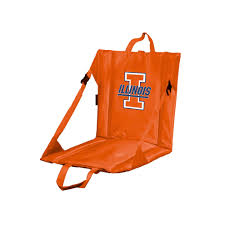 Stadium Chairs With Backs Walmart by Logo Brand Illinois Fighting Illini Folding Stadium Seat