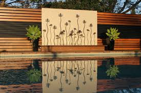 Outdoor Wall Designs And This Brighton Pool Water Feature