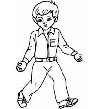 Boy Show Empty Hands Coloring Sheet