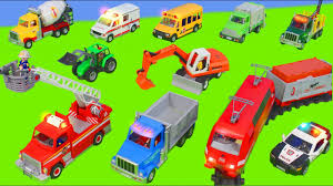 100 Kidds Trucks Fire Truck Train Excavator Dump Truck Police Cars Tractor