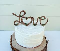Vintage Rustic Wedding Cake Toppers Ideas By