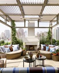 100 Palm Beach Outdoor Lounge Chair Contemporary Patio Chicago Modern Rooftop Terrace Features A Custom Trellis And An Outdoor