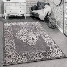 paco home designer teppich modern wohnzimmer teppiche 3d barock muster in grau beige creme grösse 160x230 cm