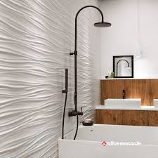 indoor tile wall porcelain stoneware wave pattern 3d wall