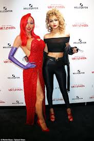 Sirius Xm Halloween Station Number by Heidi Klum Reveals How She Was Transformed Into Jessica Rabbit For