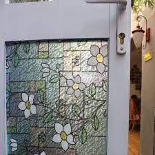 Artscape Magnolia Decorative Window Film by Amazon Com Fancy Fix Vinyl Adhesive Free Decorative Window Film