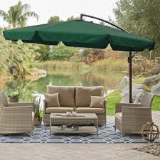 Square Patio Umbrella With Netting by Offset Patio Umbrella With Netting Patio Outdoor Decoration