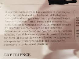 This Is A Paragraph Included In A Resume That A Kid Dropped ... 11 Common Resume Mistakes By College Students And How To Fix What Is The Purpose Of A The Difference Between Cv Vs Explained Job Correct Spelling Blank Basic Template Most Misspelled Words In Country Include Beautiful Resum Final Professional Word On This English Sample Customer Service Resume Mistakes Avoid Business Insider Rush My Essay Professional Writing For To Apply Word Friend For Jobs