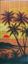 Bamboo Bead Curtains For Doorways by Amazon Com Tropical Sunset Palm Trees Beaded Curtain 125 Strands