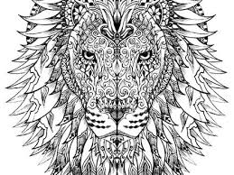 Lion Head Adult Coloring Pages PINTEREST
