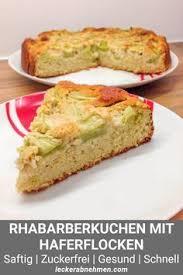 schneller rhabarberkuchen zuckerfrei backen leicht gemacht