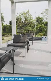 Outdoor Patio Deck And Chair Stock Image - Image Of Backyard ...