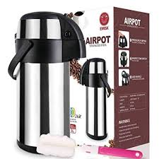 Thermal Airpot Beverage Dispenser 3L Commercial Pourpot Suitable For Both Hot