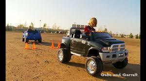 100 Power Wheel Truck S Tug Of War 1 Ford F150 Vs Dodge Ram YouTube