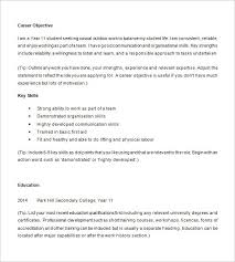 Examples Of Resumes For High School Students Luxury Sample Resume Objective Student Nice
