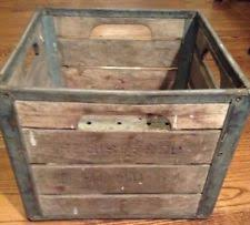Vintage Wooden Milk Crate 9 Hood 64 On Side