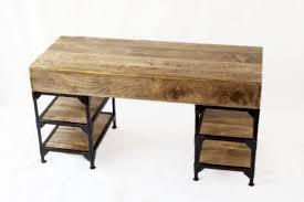 bureau industriel metal bois bureau industriel métal et bois de manguier