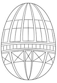 Click To See Printable Version Of Geometric Easter Egg Coloring Page