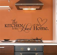 The Kitchen Is Heart Of Home Wall Decal Decor Art Sticker For 40x10