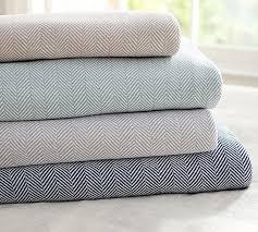 Herringbone Organic Blanket