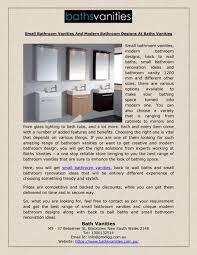small bathroom vanities and modern bathroom designs at baths