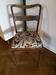 4 antike holzstühle stühle geflecht vintage esszimmer