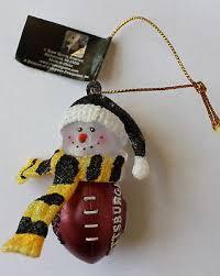 Pittsburgh Steelers Football Acrylic Light Up Snowman Christmas Tree Ornament