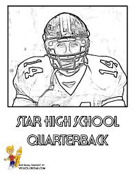 High School Quarterback Coloring At YesColoring
