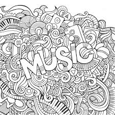 Music Hand Lettering And Doodles Elements Background Vector Illustration
