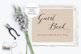 Printed Rustic Guest Book Wedding Sign Kraft Print Ideas Barn