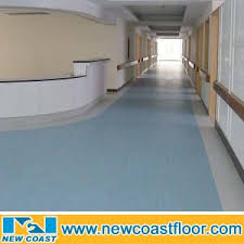 16mm Thickness Heterogeneous Vinyl Sheet Flooring For Hospital