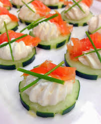 cucumber canapes jennuine by rook no 17 easy appetizer salmon cucumber