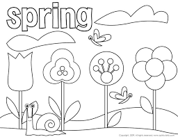 Preschool Coloring Pages Flowers Clipart