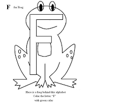 Letter F Coloring Printable Page For Kids