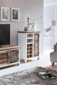 highboard perth highboard echtholz möbel wohnzimmer bunt