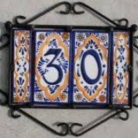 Mexican Tile House Numbers With Frame by Spanish Tile House Numbers Stevejobssecretsoflife Org