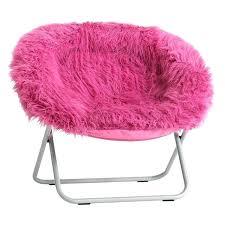 Faux Fur Round Chair White