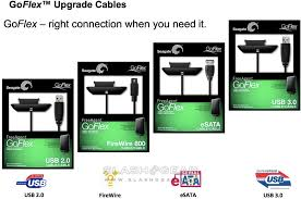 Seagate Goflex Desk Adapter Not Working by Seagate Goflex Adds Swappable Usb 3 0 Esata Firewire Cables Media