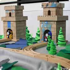 Tidmouth Shed Deluxe Set by Wooden Train Roundhouses And Engine Sheds The Play Trains