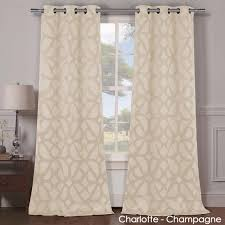 Lush Decor Belle Curtains by 2 Panels Heavy Woven Triple Layered Blackout Curtains Yugster