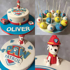 paw patrol cake and matching cake pops gâteau pat