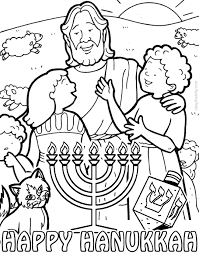 Hanukkah Coloring Book Pages