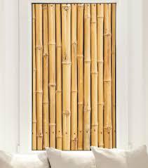 bambus fensterfolie stäbe bambuswand sichtschutz fensterbild