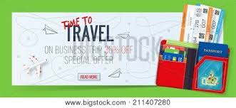 Special Offer On Business Travel Trip Banner Tickets With Wallet Air