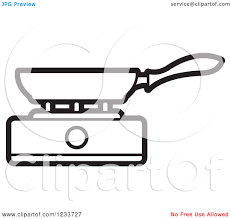 Pan On Stove Clipart