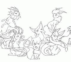 High Quality Coloring Pages Eevee Evolutions Free Printable