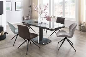 edler ausziehbarer glastisch 120 180 cm esszimmertisch